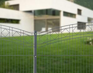Schmuckzäune Doppelstabmatten Zaun Gartenzaun Metallzaun Doppelstabgitter Doppelstabgittermatte Mattenzaun