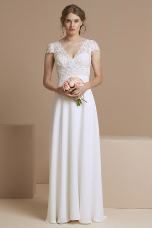 robe de mariée fluide dentelle