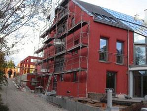 Außenputz Neubau mit Mut zur Farbe