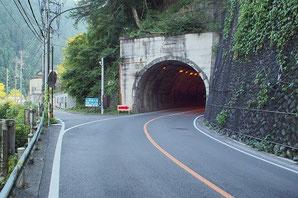花折トンネル脇 旧道入口