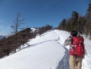 雲取山山頂手前 平成26年1月27日の状況