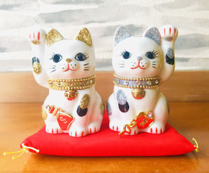 癒しの和エステ「心美」の玄関の招き猫
