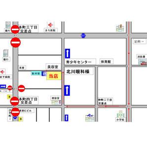 クリックで拡大。交通規制の時間帯は本町通りが車両通行できないため、迂回をお願いいたします。