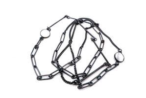Silberkette mit Perlmutt von Eva Tesarik