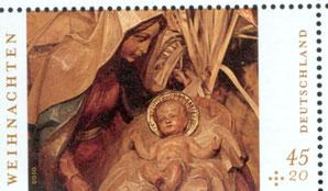 Deutsche Weihnachtsbriefmarke 2010