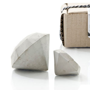 Concrete Diamond Set of Two by PASiNGA