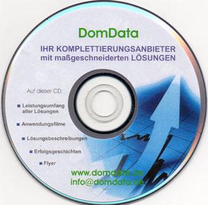 Multimediale DVD mit Texten, Filmen und Flyern