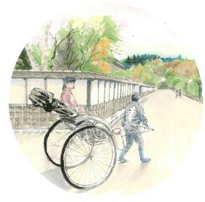 朝ドラ「おかえりモネ」ロケ地・登米市にある「みやぎの明治村」武家屋敷通りと人力車