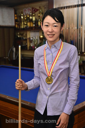 Interview with Orie Hida. She won 2017 World Ladies 3-Cushion Championship. 4 times !