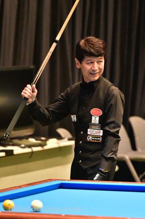 Tatsuo Arai won 2018 All Japan 3 Cushion Championship, Tokyo.