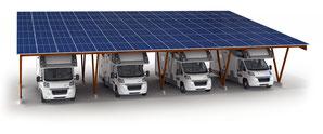 ombrière photovoltaique parking