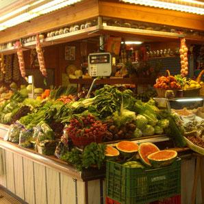 Marktstand in Santa Eulalia