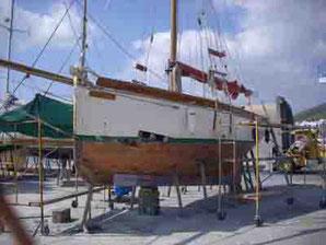 Schiffs-Reparaturen in Santa Eulalia