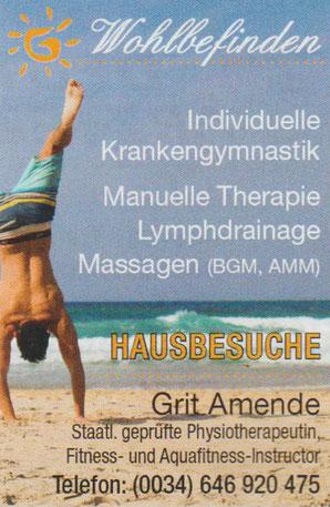 Grit Amende Staatl. geprüfte Physiotherapeutin Ibiza