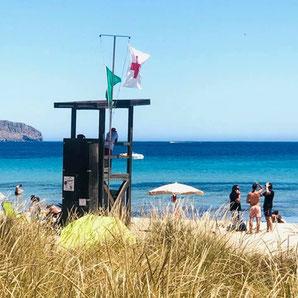 Rettungsschwimmer in Cala Nova Ibiza