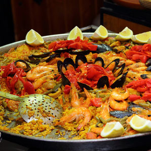 Essen und Trinken an der Cala de Bou