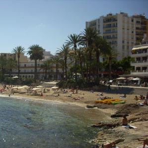 Restaurants am Strand von Figueretas