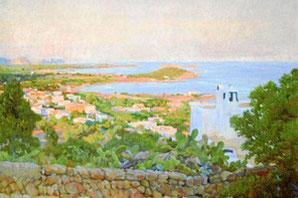 """Das bekannteste Bild des Malers Rigobert Soler Perez """"Blick auf Santa Eulalia"""""""