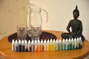 Buddha mit Aurasome-Fläschchen