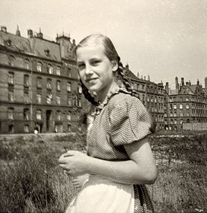 Elke in Hamburg 1954