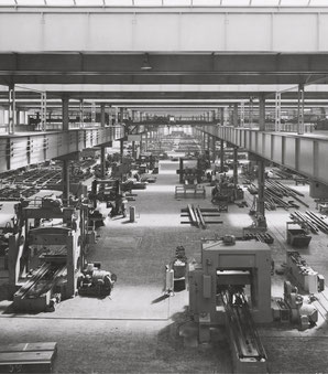 Historische Fotografie der Werkhalle