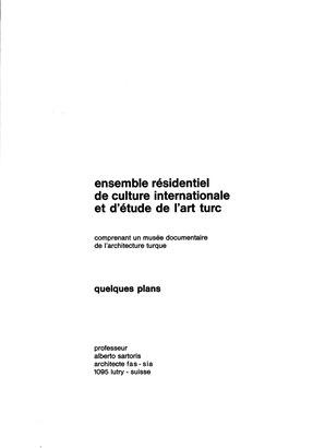 Portada del dossier presentado en Turquía hacia 1970, idéntico al dossier de 1964 presentado en Tenerife.