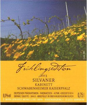 Etikett Frühlingsedition Wein
