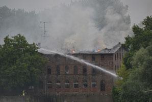 Großbrand in Bernburg - Klick!