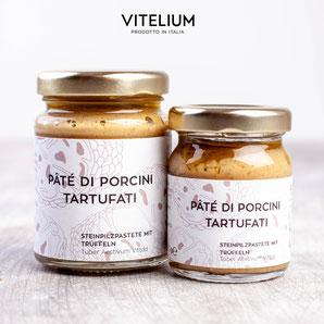 Vitelium Pate di Porcini, Steinpilzpastete mit Trüffeln aus Italien