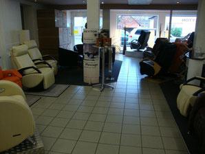 Massagesessel Showroom