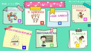 CON LOS CINCO SENTIDOS (Nivel 4 y 5 años)