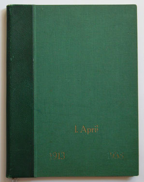 Jubiläumsurkunde in Buchform
