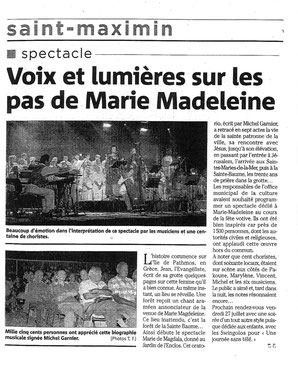 Concert Saint Maxim juillet 2007