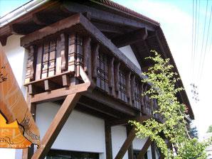 Balkon, rustikal