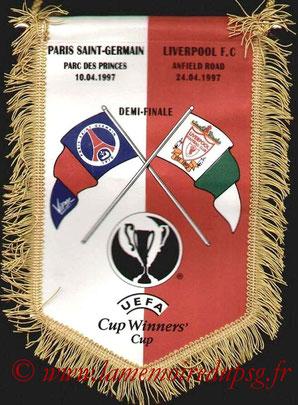 Fanion PSG-Liverpool FC  1996-97
