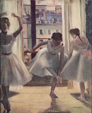 ドガ 三人の踊り子