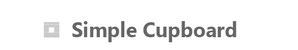 シンプルカップボードの画像