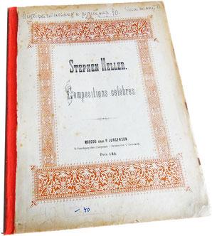 Стефан Геллер, сочинения и транскрипции, обложка