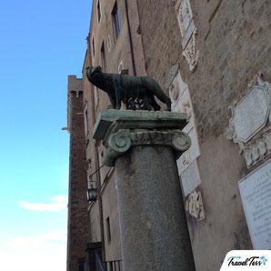 Beeld Remus en Romulus in Rome