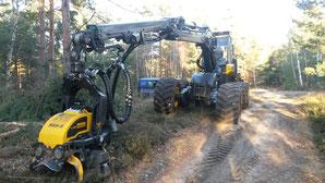 Harvester für Durchforstung und Holzeinschlag