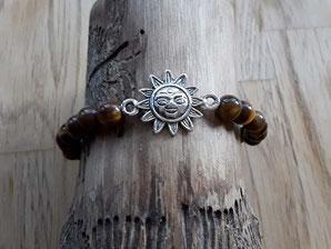 Edelstein Armband mit Sonnen Symbol
