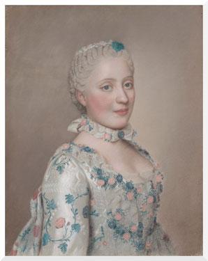 Gemälde von Jean-Etienne Liotard, Bildnis der Maria Josepha von Sachsen (1749)