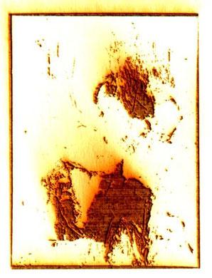"""Diva"", Laser auf Papier, 1997"