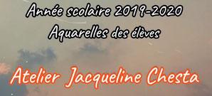 Aquarelles des élèves de l'Atelier de Jacqueline Chesta <<La ViDéO<<