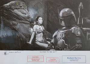 Hostage to the Hutt (Robert Bailey, Pencil Drawing)