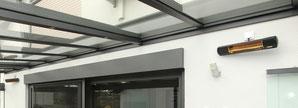 Heizstrahler für Terrassen und Terrassendächer