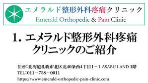 エメラルド整形外科疼痛クリニックについてご紹介するYouTube動画