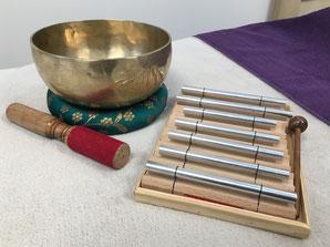 bols tibetains et barre de son
