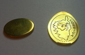 Van jeton naar geperste souvenir munt