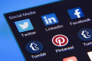 Dreh-Zahl Screen Social Media